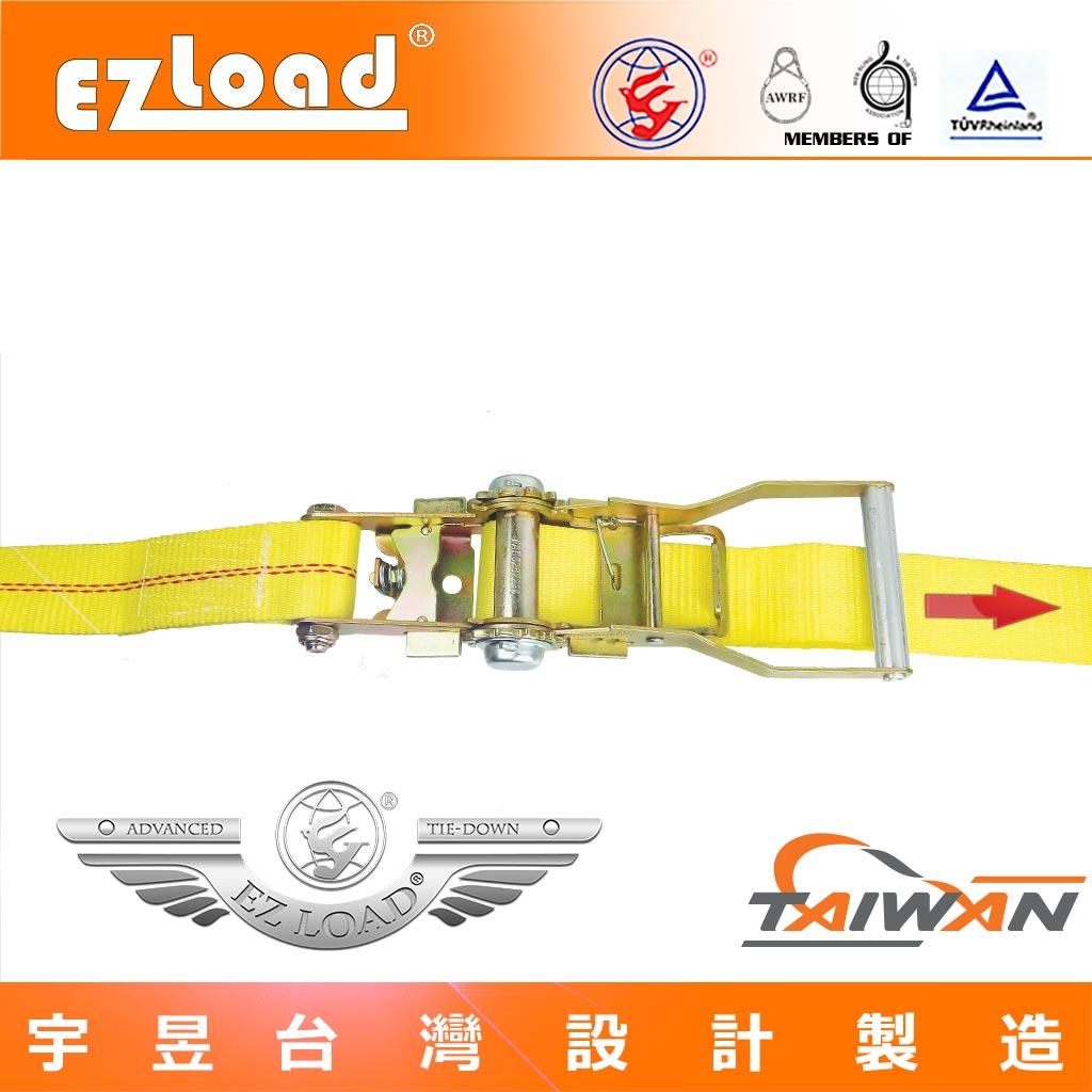 棘輪綑綁器與 貨車貨物安全固定帶